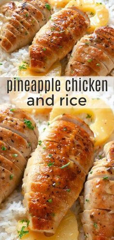 Pineapple Chicken and Rice Dinner Recipe. Tender chicken cooked in a sweet pineapple honey Dijon sauce and served over rice.<br> Pineapple Chicken and Rice Dinner Recipe. Tender chicken cooked in a sweet pineapple honey Dijon sauce and served over rice. Healthy Dinner Recipes For Weight Loss, Gluten Free Recipes For Dinner, Recipes Dinner, Dessert Recipes, Healthy Dinner With Chicken, Healthy Chicken Meals, Keto Dinner, Best Healthy Dinner Recipes, Summer Recipes