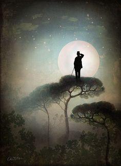 The Man in the Moon by Catrin Welz-Stein. Digital. ~via Catrin Welz-Stein, FB