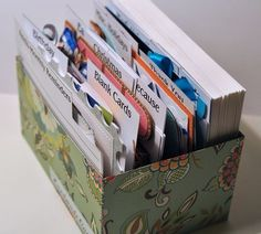 card box organizer