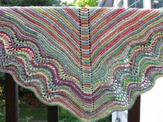 Summer Garden Birthday Shawl - I don't know if I'd use varigated yarn for this, but I love the pattern!