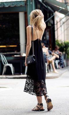 Gorgeous black lace maxi