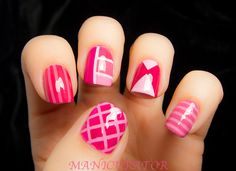 manicurator: The New Black Ombre-Floyd Nail Art
