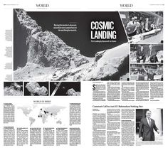 Cosmic Landing First Landing by Spacecraft on Comet|Epoch Times #newspaper #editorialdesign