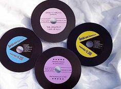 "Personalized ""Records"" - Wedding Favors | Bridal Shower Favors | Favor Idea"