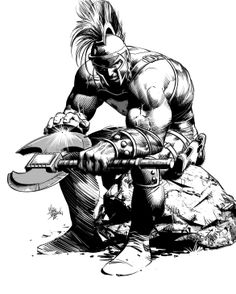 Ares by Mike Deodato Jr. via Tumblr