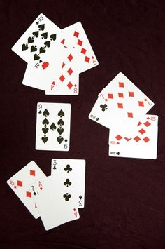 Deal 4 cards. One card face up. Players must create an equation to equal face up card --- 4th grade math