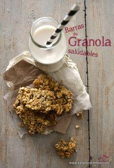 BARRAS DE GRANOLA si estas buscando un desayuno rápido, saludable y delicioso para ti ó para el lunch de tus hijo esta receta es ideal para ti!! #vegan #healthy #granola