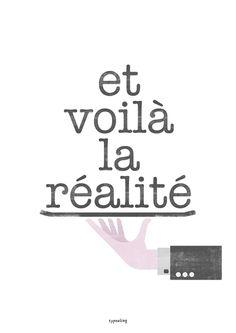 Digitaldruck - Kunstdruck Poster / Réalité No. 1 - ein Designerstück von typealive bei DaWanda