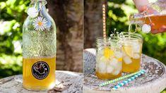 Bezinková šťáva se v letním období skvěle využije při přípravě domácích limonád a jiných osvěžujících nápojů! Smoothie, Homemade, Drinks, Bottle, Food, Advent, Syrup, Drinking, Beverages