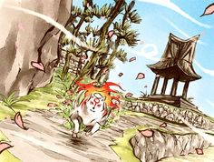 Ammi from Okami Playstation 2, Nintendo Ds, Japanese History, Amaterasu, Comic, Ink Illustrations, Fire Emblem, Game Art, Mythology