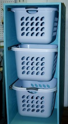 Laundry basket dresser, perfect for my small kitchen closet
