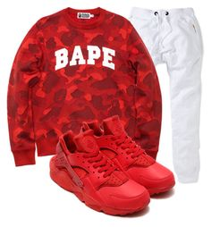 """""""Bape"""" by tyreek-1 ❤ liked on Polyvore featuring art"""