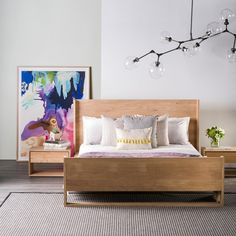 Ethnicraft Oak Nordic King Bed by Ethnicraft | Clickon Furniture
