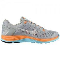buy online d602c 27e7d Chaussures Nike Lunarglide+ 5 pour courir Femme Embruns   Atomique Orange    Glacier   Sommet Blanc