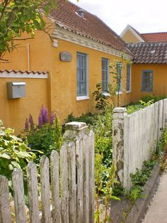 Skagen, Denmark - one of the yellow houses.