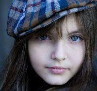Blue Eyes Digital Portrait by designsofakhter on DeviantArt Fb Profile Photo, Girl Pictures, Girl Photos, Facebook Features, Cute Little Baby, Digital Portrait, Tan Skin, Girl With Hat, Beautiful Children