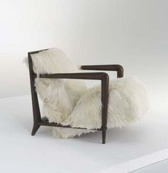 Goat hair upholstered armchair - I'd be snug as a bug in a rug. Ah, a Chair Bear can dream. French Furniture, Furniture Design, Upholstered Arm Chair, Interior And Exterior, Mid Century, The Originals, French Designers, Image, Armchairs