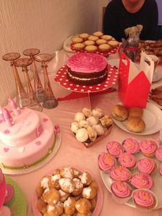 #princess #food table #party food #pink #birthday #girl #tea party #tutu #1st birthday