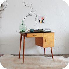 mobilier vintage - bureau années 50 formica | Atelier du petit parc