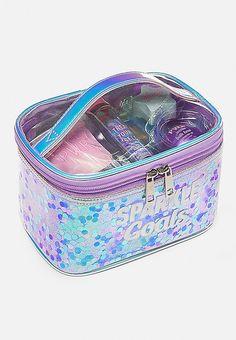 Just Shine Sparkle Goals Bath Set Makeup Kit For Kids, Kids Makeup, Cute Makeup, Basic Makeup Kit, Justice Makeup, Unicorn Room Decor, Cute Suitcases, Justice Accessories, Unicorn Fashion