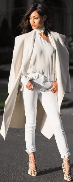 Winter whites…/ Fashion Look by Micah Gianneli