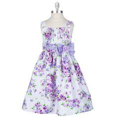 Sweet Heart Rose Girls 2T-4T Floral Shantung Dress #VonMaur