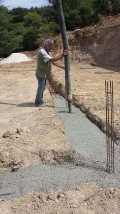 Béton de fondations à Roquevaire