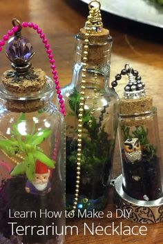 How to Make a DIY Terrarium Necklace
