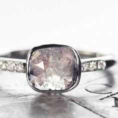 1 carat salt & pepper diamond ring. chincharmaloney.com