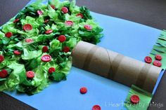 Kindergarten or grade/Johnny Appleseed Apple tree craft using tissue paper . - Kindergarten or grade/Johnny Appleseed Apple tree craft using tissue paper and paper roll. Kids Crafts, Bible Crafts, Tree Crafts, Toddler Crafts, Toilet Paper Roll Crafts, Tissue Paper Crafts, Apple Seeds, Classroom Crafts, Autumn Activities