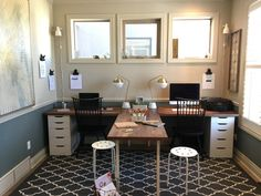 So make sure you design your home office exactly how you want from the perfect colors, . See more ideas about Desk, Home office decor and Home Office Ideas. Office Playroom, Home Office Organization, Home Office Space, Home Office Design, Home Office Furniture, Home Office Decor, Home Decor, Office Ideas, Ikea Office Hack