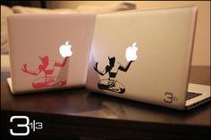 Detroit Apple Macbook Decal: Spirit of Detroit .  by 3andathird
