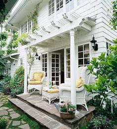 images of porch over exterior french doors | pergola over a garage door