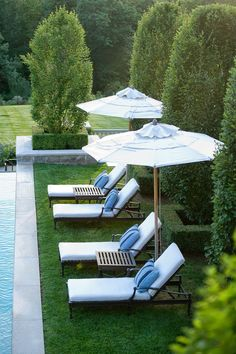 Chaise Lounges and Classic Rectangular Pool.