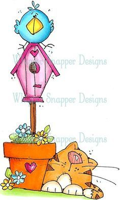No Cats Allowed - Cats - Animals - Rubber Stamps - Shop Ideias Diy, Cute Clipart, Country Paintings, Tole Painting, Digi Stamps, Whimsical Art, Doodle Art, Cat Art, Cute Drawings