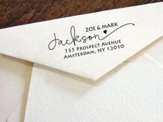 Custom Return Address Stamp Modern Calligraphy stamp by esprint09