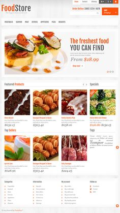 Prestashop template #food #restaurant #ecommerce #responsive