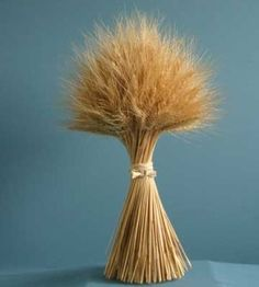 A wheat sheaf symbolizes the bounty of the harvest -- and is a great fall accent for your home. Learn how to make one at our website.