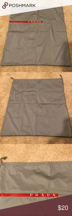 "PRADA SPORT LARGE SIZE GRAY DUST BAG 16.5"" x 18.0"" PRADA SPORT GRAY DUST BAG - Large size dust bag. Brand new & in perfect condition.  H: 18.0"" W: 16.5"" Prada Bags"