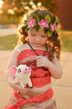 Outfit for Aalaiyah for her Princess Tea party Moana Party, Moana Theme, Moana Birthday Party, Twin Birthday, First Birthday Parties, Hawai Party, Luau Party, Moana Halloween Costume, Moana Costumes