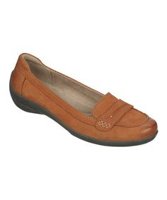 Look at this #zulilyfind! Rusty Tan Leather Fire Loafer by Naturalizer #zulilyfinds