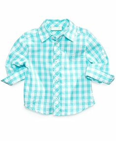 First Impressions Baby Boys' Gingham Top