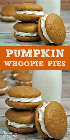 Soft Pumpkin Cookies, Pumpkin Whoopie Pies, Pumpkin Dessert, Woopie Pies, Chocolate Whoopie Pies, Amish Pumpkin Whoopie Pie Recipe, Pumpkin Pie Cupcakes, Sugar Pumpkin, Fall Baking