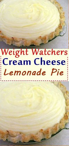 Weight Watchers Cream Cheese Lemonade Pie - Another! Lemon Recipes, Ww Recipes, Skinny Recipes, Cake Recipes, Dessert Recipes, Recipies, Low Sugar Recipes, Waffle Recipes, Köstliche Desserts