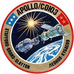 SOYUZ-APOLLO 1975 ASTP USSR USA Soviet Russian Commemorative Space Pin Badge