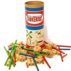 The Tinkertoy Construction Set is a toy construction set for children. It was created in 1914—one year after the A. C. Gilbert Company's Erector Set—by Charles H. Pajeau and Robert Pettit in Evanston, Illinois. Pajeau, a stonemason, designed the toy after seeing children play with pencils and empty spools of thread. He and Pettit set out to market a toy that would allow and inspire children to use their imaginations. At first, it did not go well, but after a year or two over a million were sold.