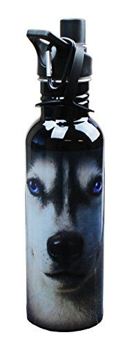 The Mountain Siberian Husky Face Water Bottle