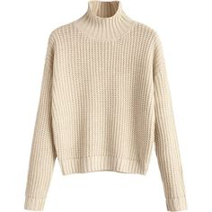 Turtleneck Chunky Sweater Apricot S ($17) ❤ liked on Polyvore featuring tops, sweaters, zaful, chunky turtleneck, pink turtleneck, polo neck sweater, turtleneck top and pink top