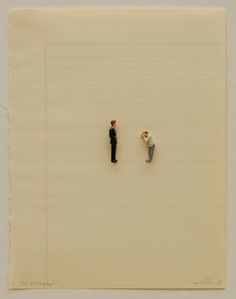 Liliana Porter - The Photograph (2010 - figurines on paper) / http://lilianaporter.com #miniature