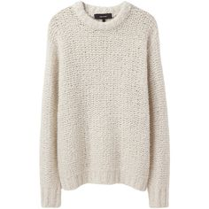 Isabel Marant Quena Oversized Chunky Knit ($450) ❤ liked on Polyvore featuring tops, sweaters, jumpers, shirts, longsleeve shirt, long sleeve shirts, oversized long sleeve shirt, long sleeve jumper and over sized sweaters
